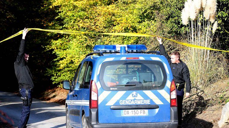 Police arrive at the farmhouse