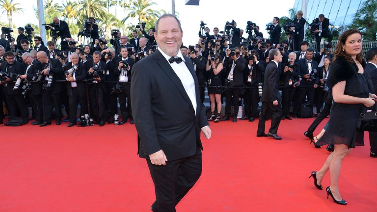 US producer Harvey Weinstein arrives for the screening of 'Moonrise Kingdom' and the opening ceremony of the 65th Cannes film festival on May 16, 2012 in Cannes