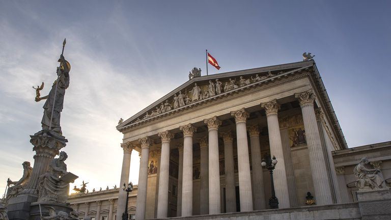 The Austrian parliament building, which was built in 1874