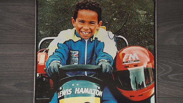 Lewis Hamilton learnt to be a winning racer at the karting track
