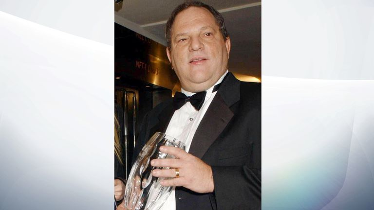 Harvey Weinstein with his BFI Fellowship in 2002