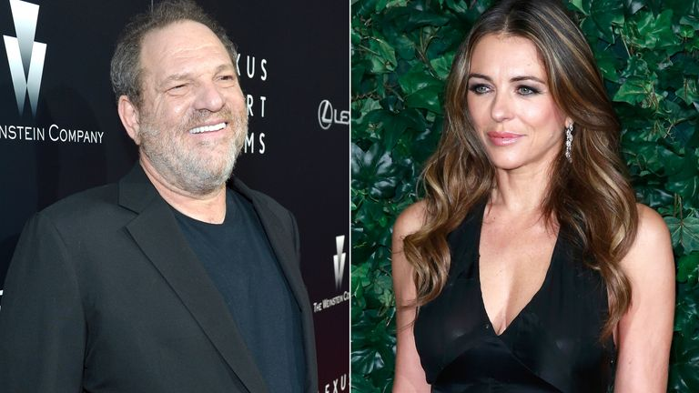 Harvey Weinstein and Elizabeth Hurley
