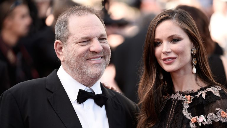 The producer and his wife Georgina Chapman at the Cannes Film Festival in 2015