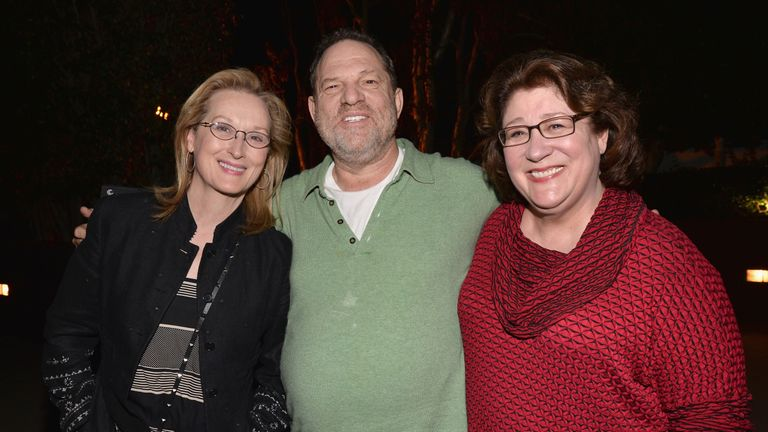 Meryl Streep with Harvey Weinstein in 2014