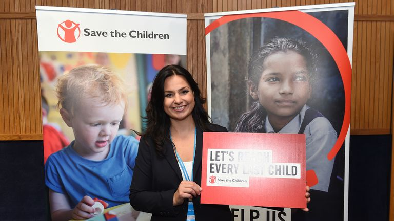Heidi Allen at the Save The Children evening reception at the Conservative Party conference