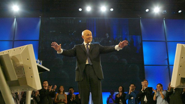 Iain Duncan Smith speaks at the 2003 Conservative party conference