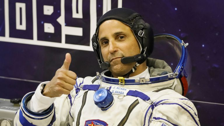 International Space Station crew member Joe Acaba was making adjustments to an external camera when Houston advised him to go back inside