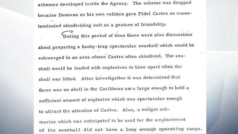 An exploding seashell was also discussed as an assassination option