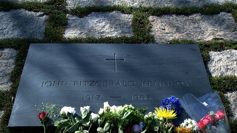 The grave of John F. Kennedy at Arlington National Cemetery