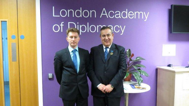 Professor Josephy Mifsud. Pic: Russian Embassy in London