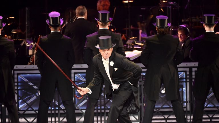 XX presents XX with the award for (AWARD NAME) for ..(NAME OF PLAY/MUSICAL).. onstage during the 2017 Tony Awards at Radio City Music Hall on June 11, 2017 in New York City.