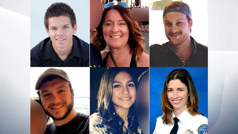 (Clockwise from top left) Quinton Robbins, Denise Burditus, Jordan McIldoon, Rachael Parker, Angela Gomez, Sonny Melton