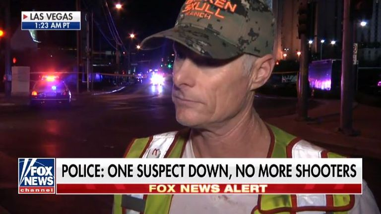 A fireman hailed as a 'hero' for saving lives in the Las Vegas attack