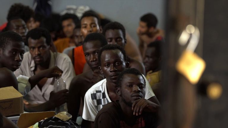 The camps are overcrowded as people head through Libya and dream of making it to Europe