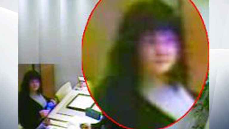 Warwickshire Police believe the suspect may have been wearing a wig in this picture