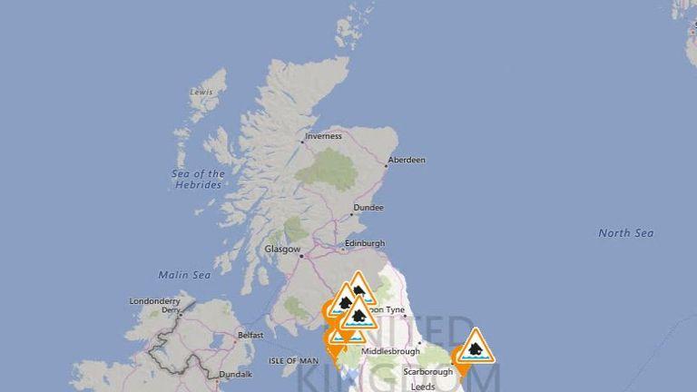 Storm Ophelia map flood alerts gov website