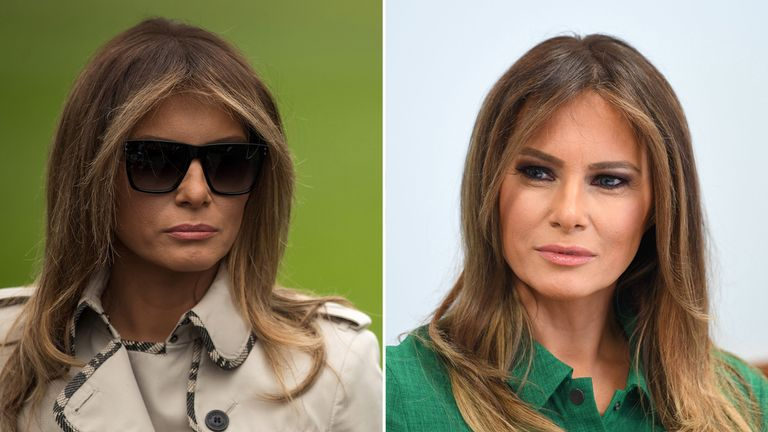 Conspiracy theorists thought the woman on the left was a body double for the First Lady
