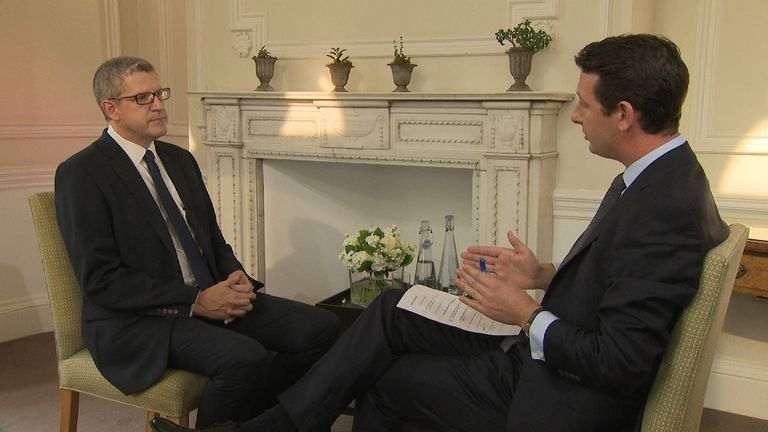 MI5's Director-General Andrew Parker gives first televised interview by an incumbent