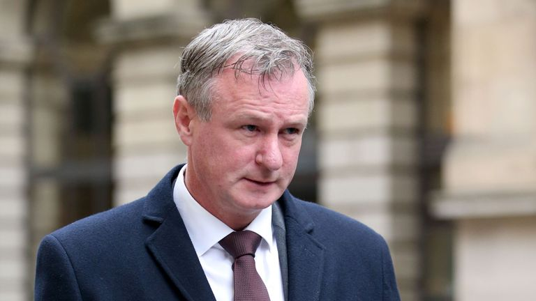 Northern Ireland football manager Michael O'Neill leaves court after pleading guilty to drink-driving