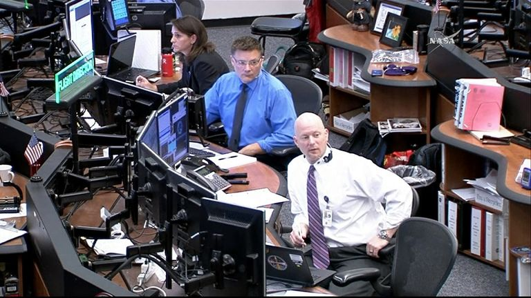 Mission control in Houston were unhappy with their man's jetpack. Pic: NASA