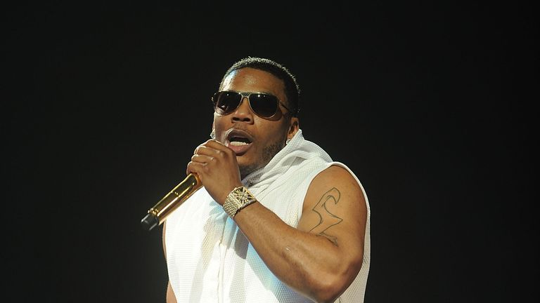Nelly performing in concert in New York
