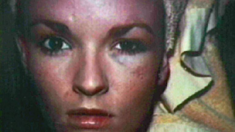 A photographed of Nicole Brown Simpson shown to the court during Simpson's trial in 1995