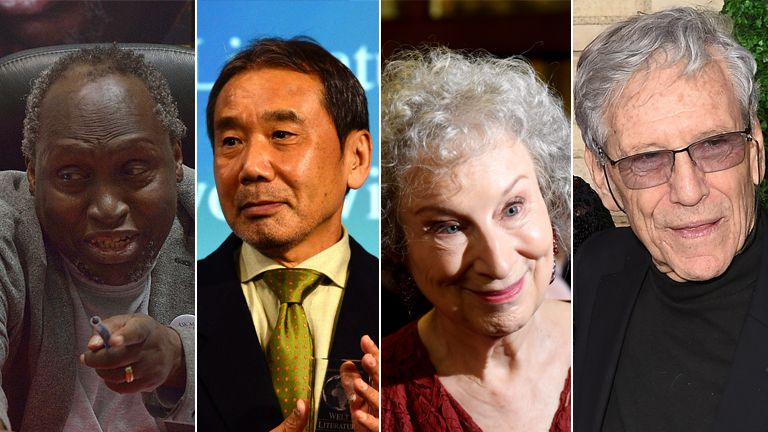 Ngugi Wa Thiong'o, Huraki Murakami, Margaret Atwood and Amos Oz