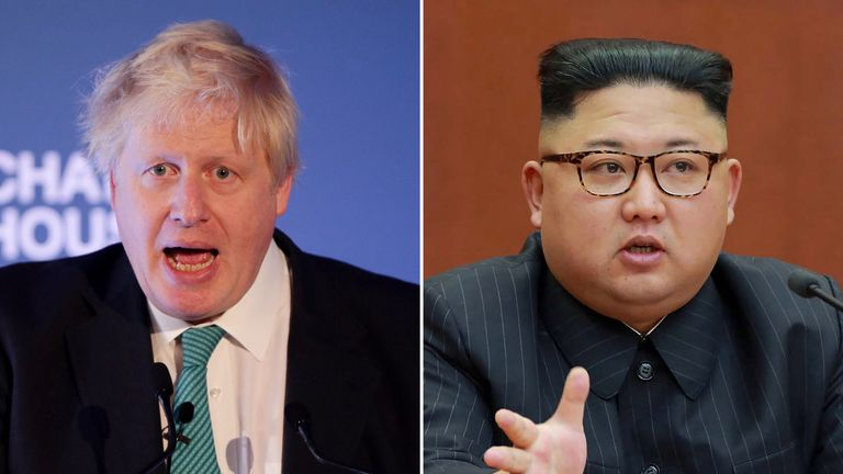The Foreign Secretary called on Mr Kim to negotiate over his nuclear ambitions
