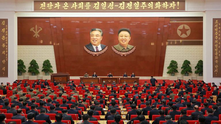 The Central Committee of the Workers' Party of Korea meets in Pyongyan