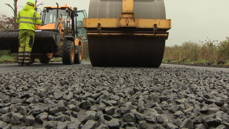 Plastic bottles and bags recycled to build roads | Ocean