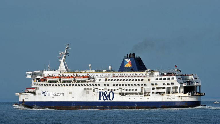 A P&O ferry similar to the Spirit of Britain vessel on which the two weapons were found