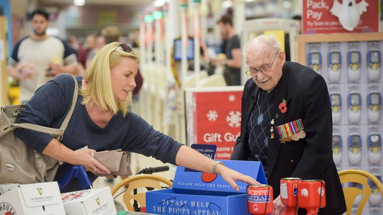 Ron Jones, 100, volunteers for up to six hours a day