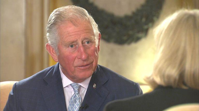 Prince Charles talks to Sky's Anna Botting in Malta