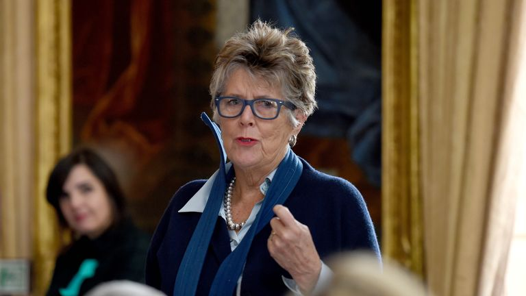 Prue Leith speaks as she attends A Very Special Afternoon Tea with nutritionist Jane Clarke and Terry Jones as they launch Nourish website and community, which is dedicated to helping people with cancer and dementia through the power of good food and expert support, at the Royal Hospital Chelsea in London. PRESS ASSOCIATION Photo. Picture date: Tuesday February 14, 2017. See PA story  . Photo credit should read: Kirsty O'Connor/PA Wire
