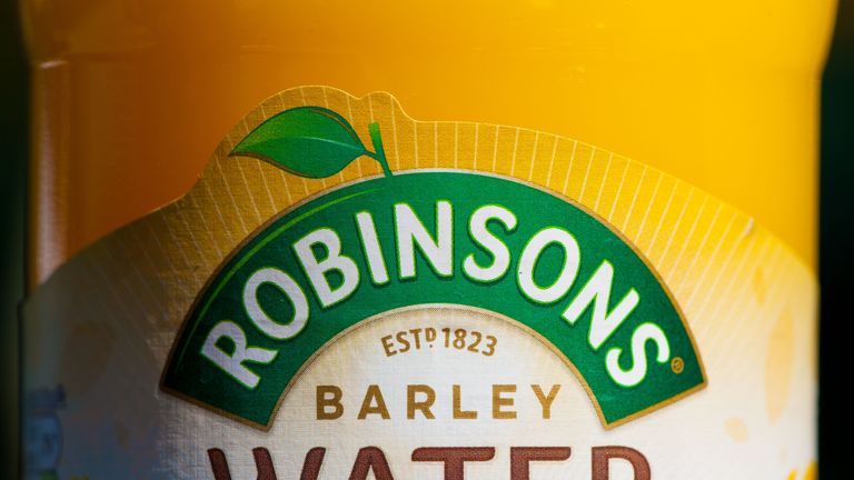 A bottle of Robinsons barley water during day Four of the Wimbledon Championships at the All England Lawn Tennis and Croquet Club, Wimbledon.