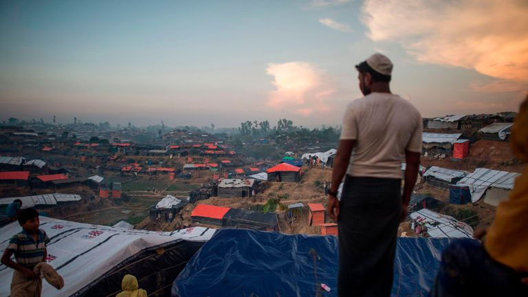 Rohingya Muslim refugees at Balukhali refugee camp in Bangladesh's Ukhia district