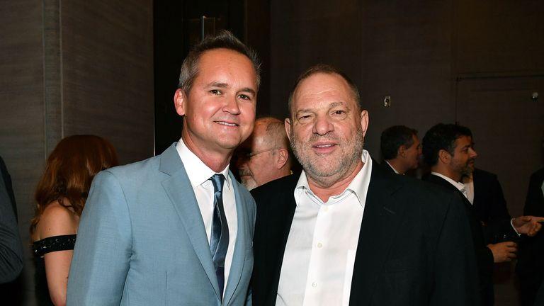 Roy Price (L) and Harvey Weinstein