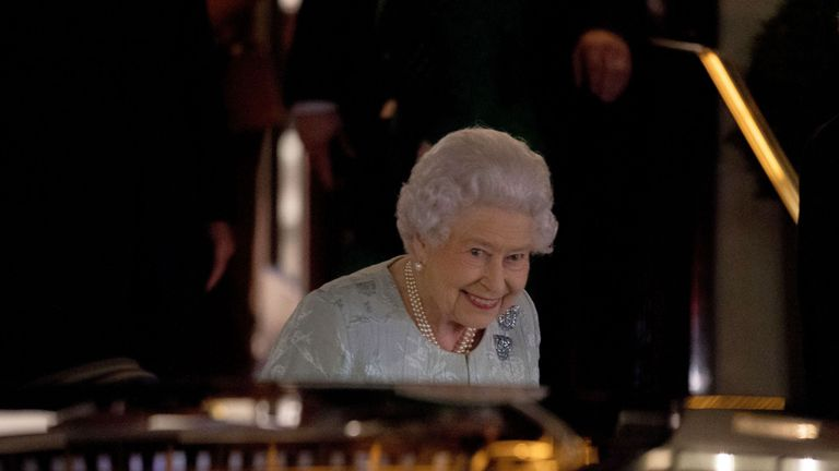The Queen was at an engagement at the Army and Navy Club in central London on Thursday evening