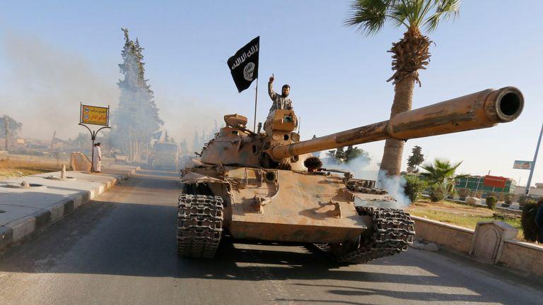 Islamic State militant in Raqqa