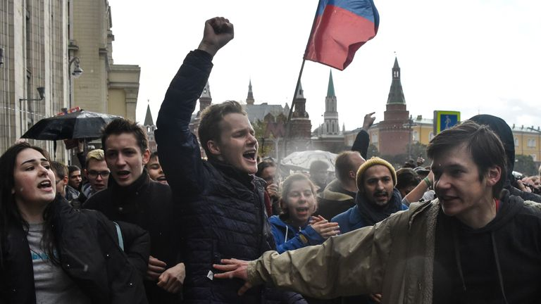Protesters, many in their teens and twenties, braved bad weather to attend demonstrations.