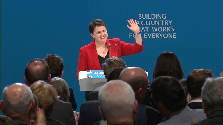 Ruth Davidson at the party conference