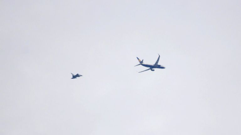 The Ryanair plane. Pic: Andy Longhurst