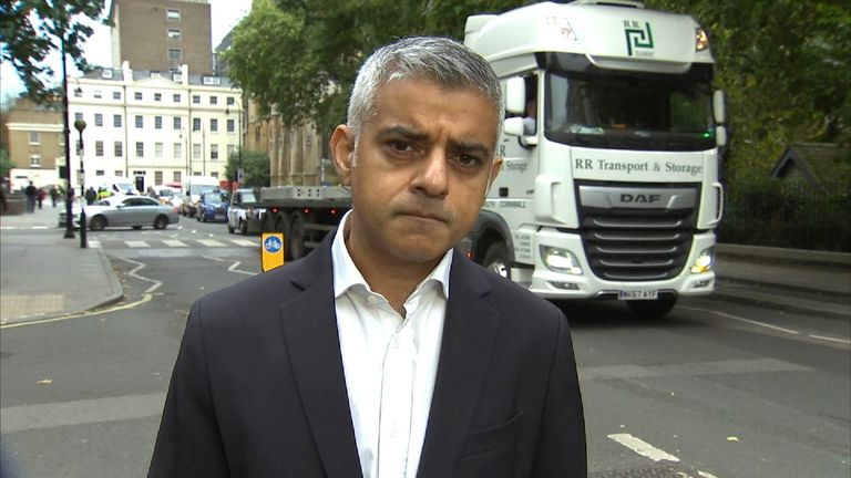 Sadiq Khan says pollution in London is causing a public health crisis