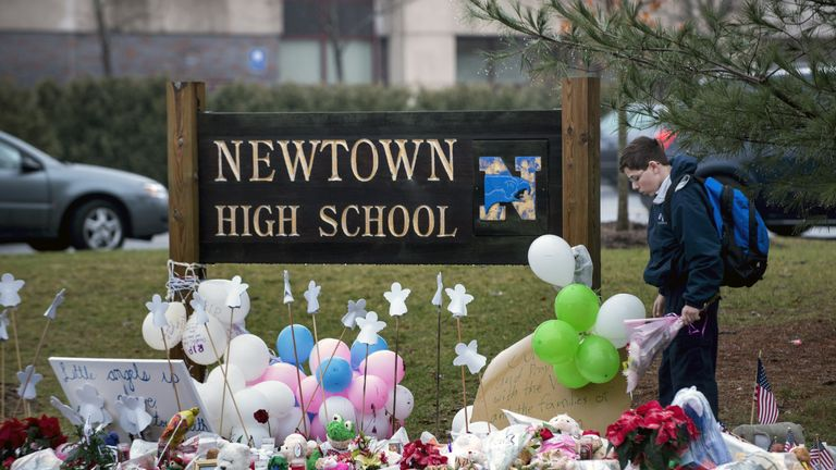 The shooting at Sandy Hook Elementary School in 2012