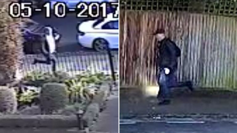 A man leaving the scene of a sexual offence in the Honor Oak Road area of south east London