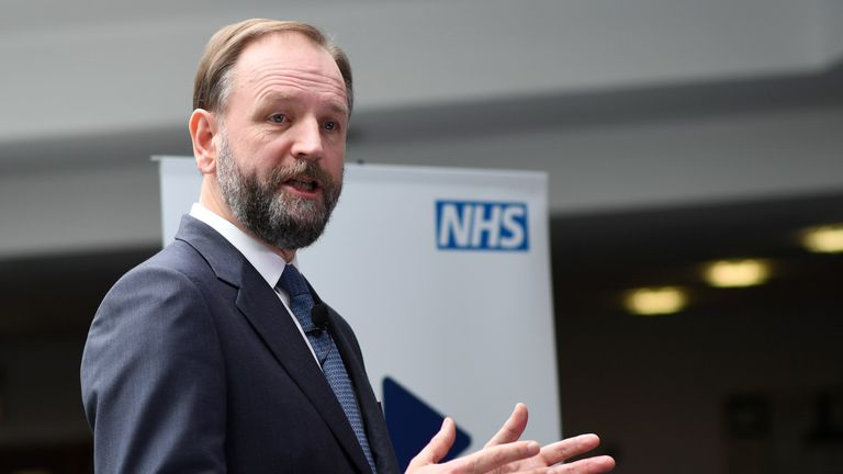 NHS England's chief executive Simon Stevens addresses staff during the launch of the Next Steps on the NHS Five Year Forward View at Aldershot Centre for Health.