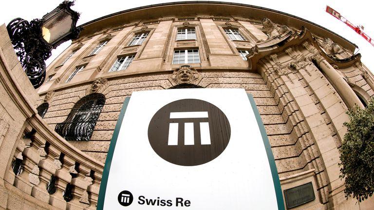 The logo of Swiss insurer Swiss Re is seen in front of its headquarters in Zurich, Switzerland, September 23, 2015