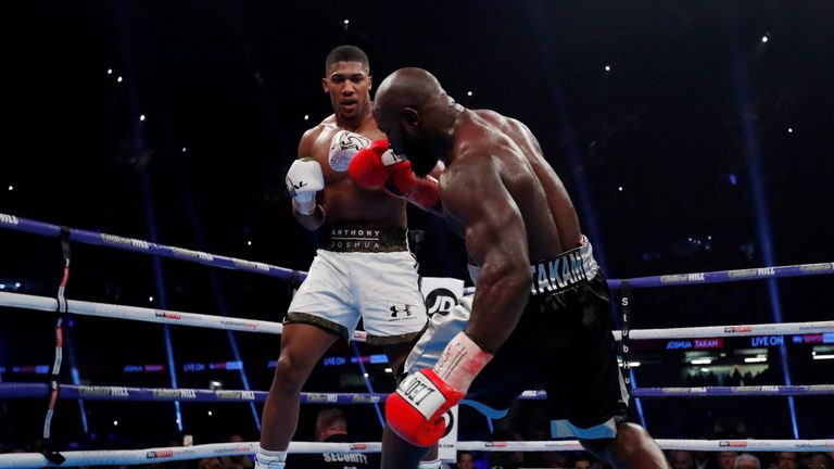 Takam was briefly knocked down early in the fight
