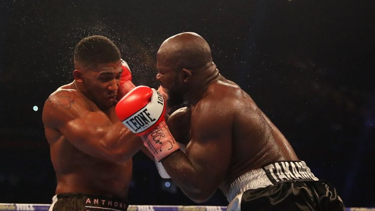 Takam, 36, surprised many by giving Joshua a tough fight