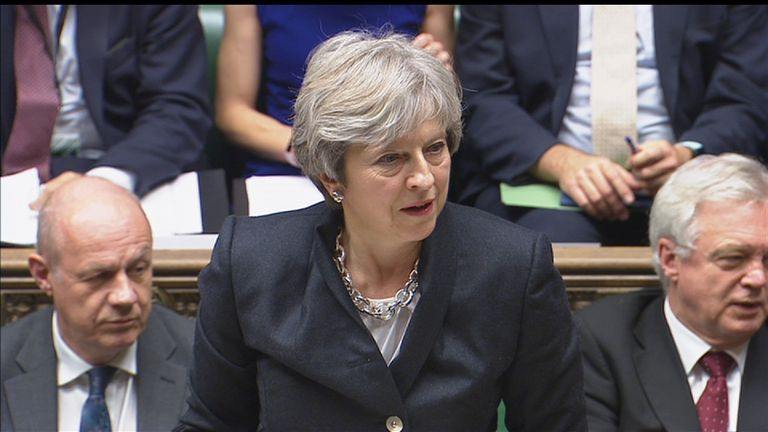 Theresa May addresses the Commons
